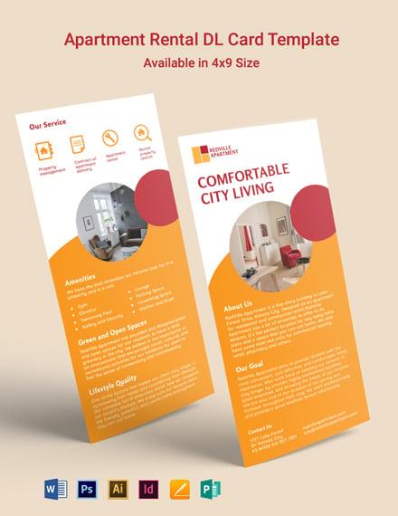 Apartment Rental DL Card Template