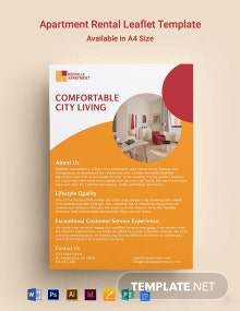Apartment Rental Leaflet Template