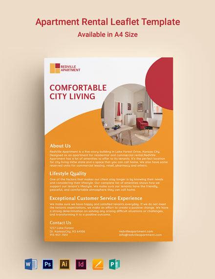 Apartment Rental Leaflet Template