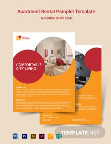 Apartment Rental Pamphlet Template