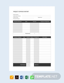 Free Simple Project Expense Report Template