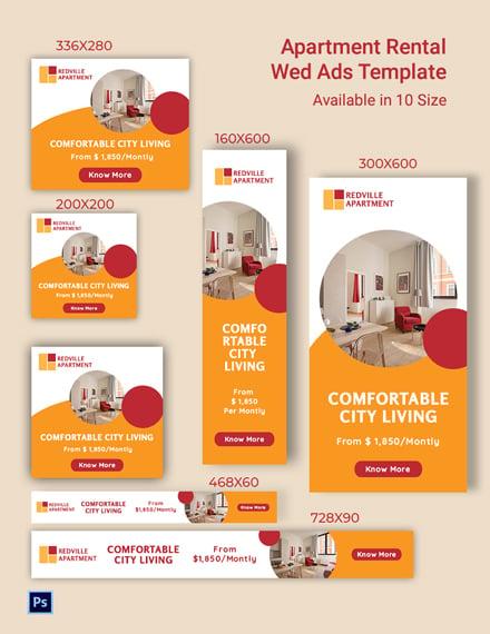 Apartment Rental Web Ads Template