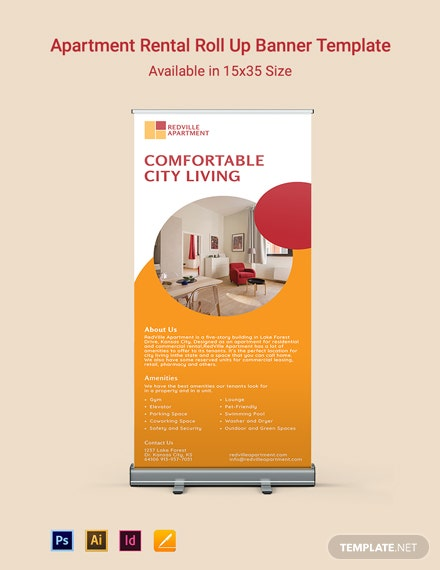 Apartment Rental Roll Up Banner Template