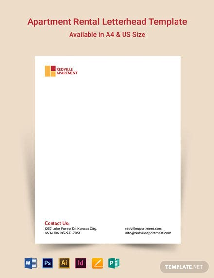 Apartment Rental Letterhead Template