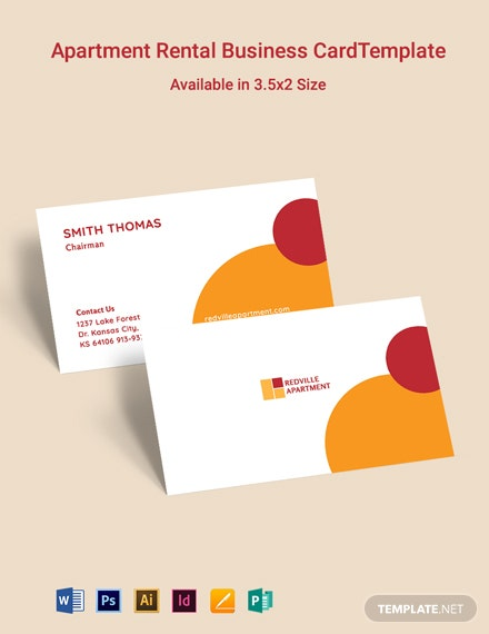 Apartment Rental Business Card Template