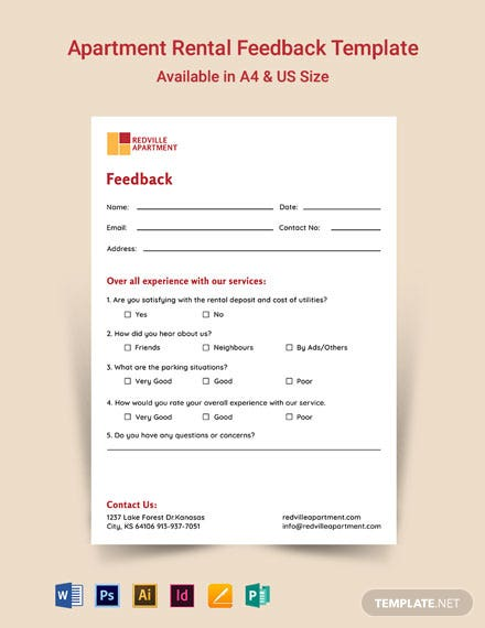 Apartment Rental Feedback Form Template