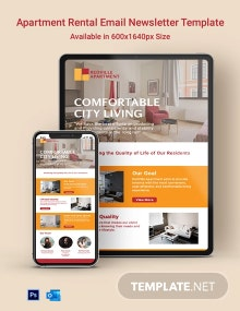 Apartment Rental Email Newsletter Template