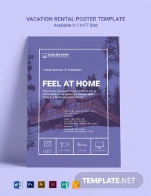 Vacation Rental Poster Template