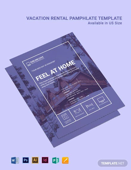 Vacation Rental Pamphlet Template