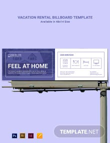 Vacation Rental Billboard Template