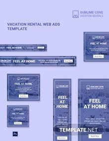 Vacation Rental Web Ads Template