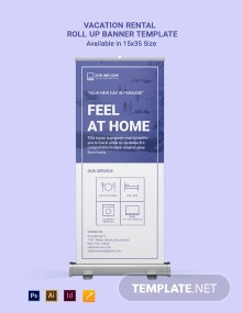 Vacation Rental Roll Up Banner Template