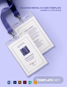 Vacation Rental ID Card Template