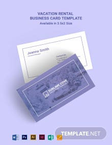Vacation Rental Business Card Template