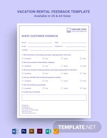 Vacation Rental Feedback Form Template