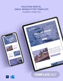 Vacation Rental Email Newsletter Template
