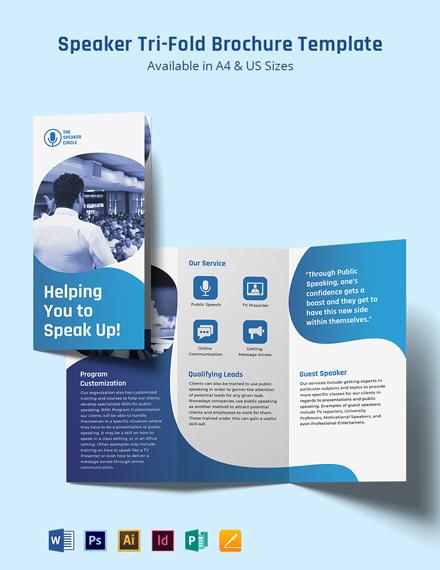 Speaker Tri-Fold Brochure Template