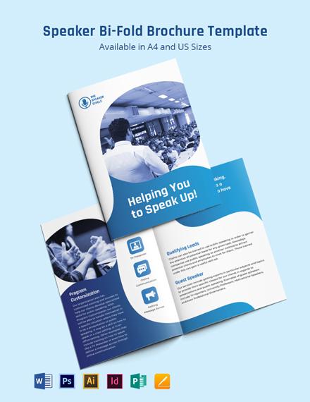 Speaker Bi-Fold Brochure Template