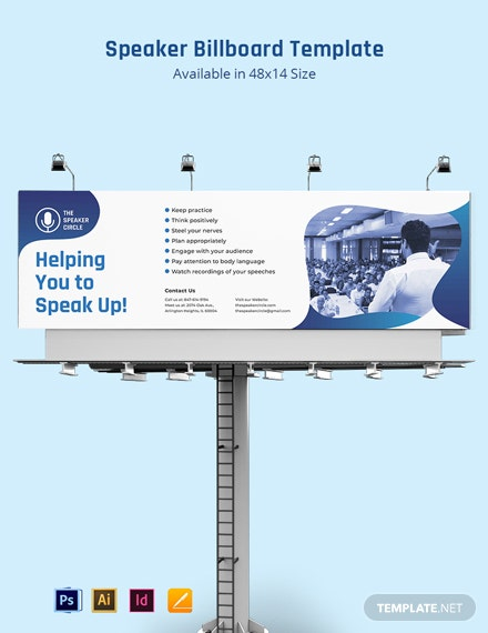 Speaker Billboard Template