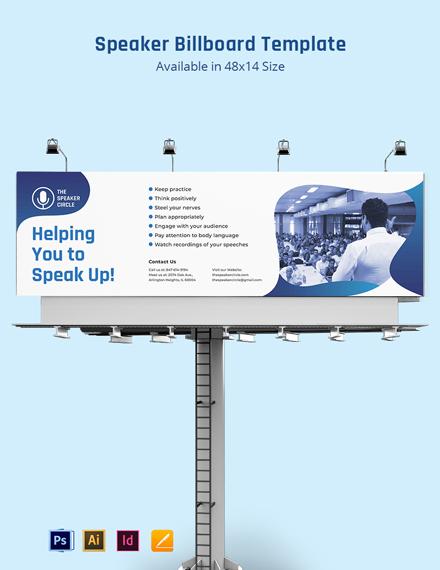 Speaker Billboard Template
