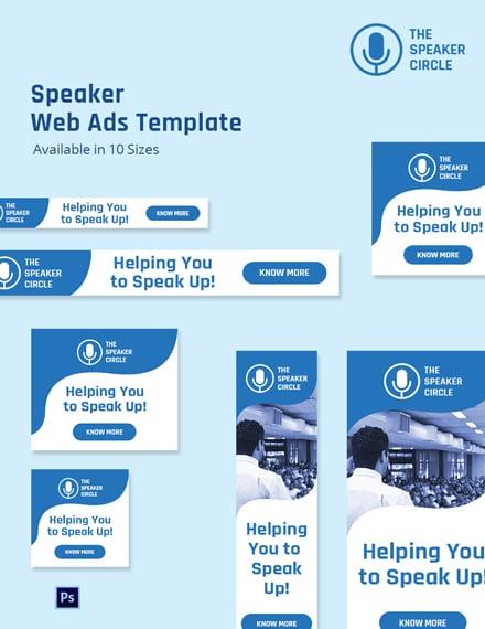 Speaker Web Ads Template