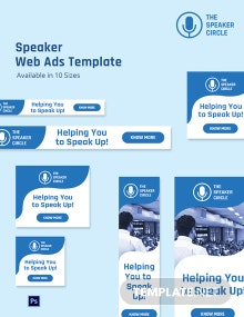 Speaker Web Ads Template