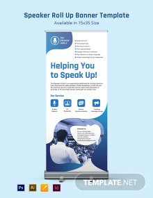 Speaker Roll Up Banner Template