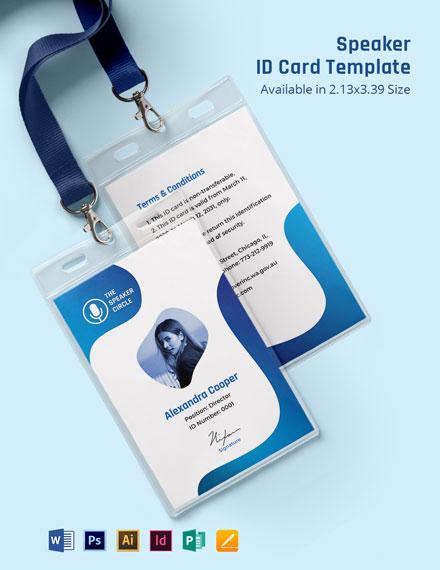 Speaker ID Card Template