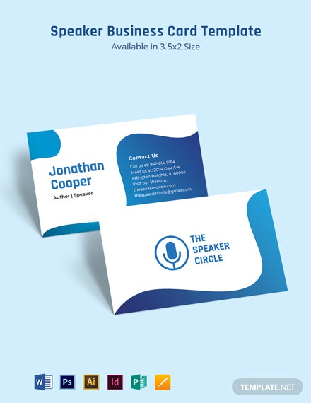 Speaker Business Card Template