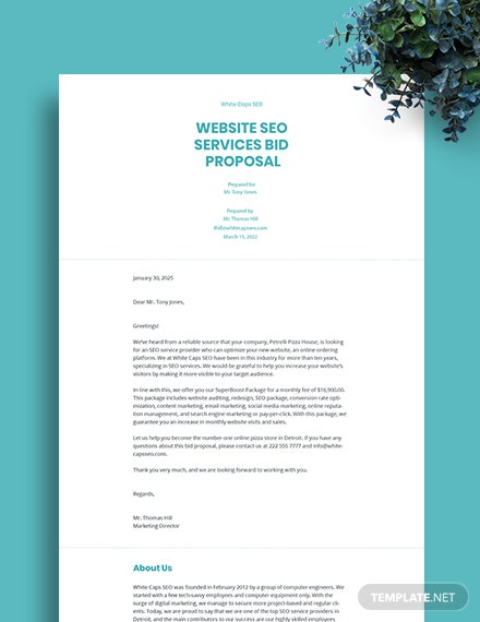 SEO Bid Proposal Template