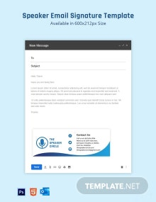 Speaker Email Signature Template