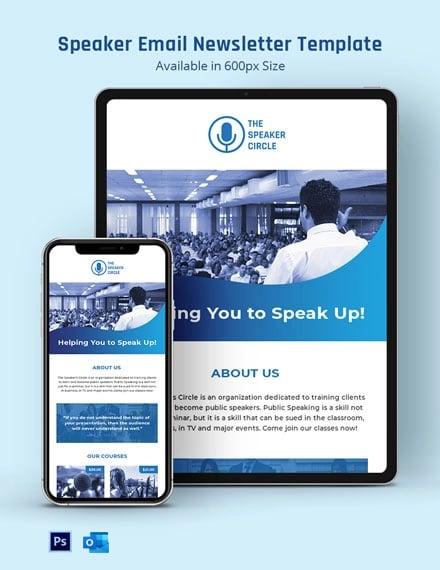 Speaker Email Newsletter Template