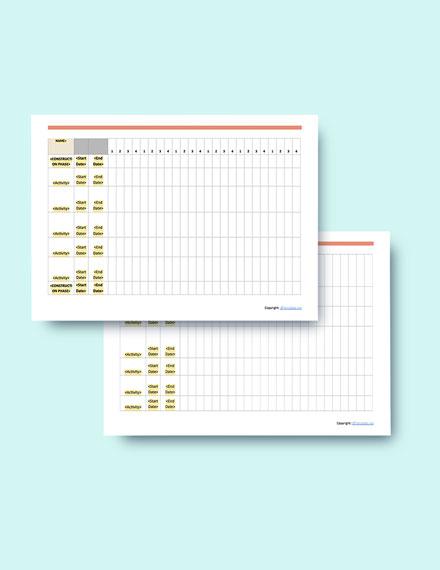 simple construction schedule format