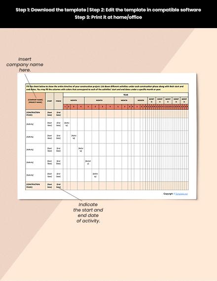 Basic Construction Schedule Format