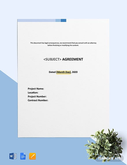 Free Simple Subcontract Agreement Template