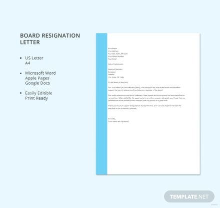 free board resignation letter template download 700 letters in