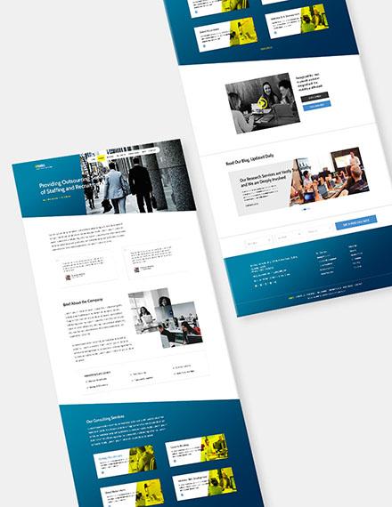 HR Agency Website Format