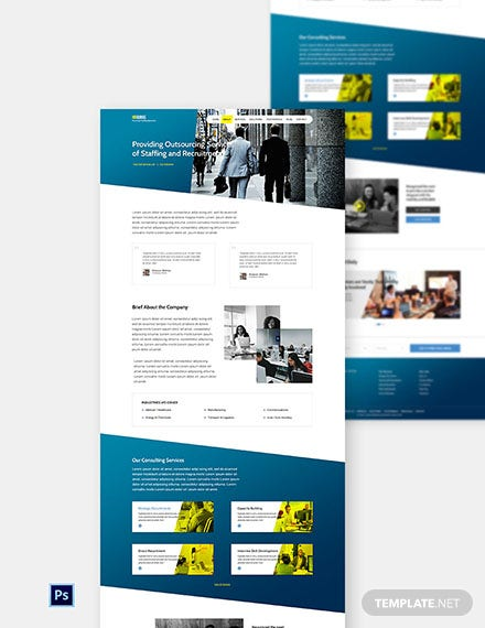 Free HR Agency Website Template