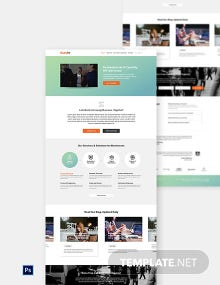 Free HR Report Website Template