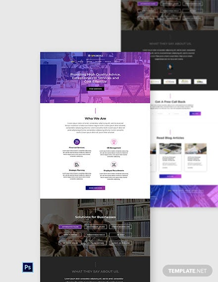 Free HR Services Website Template