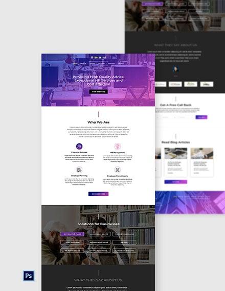 HR Services Website Template
