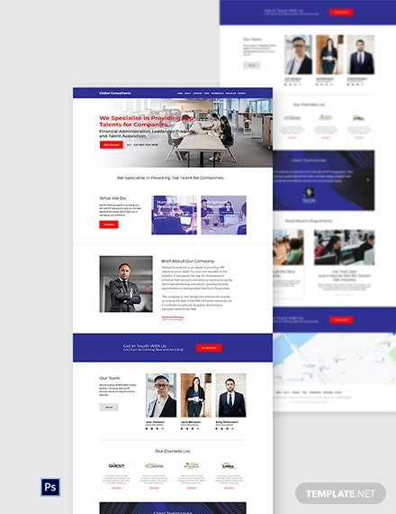 HR Solutions Website Template