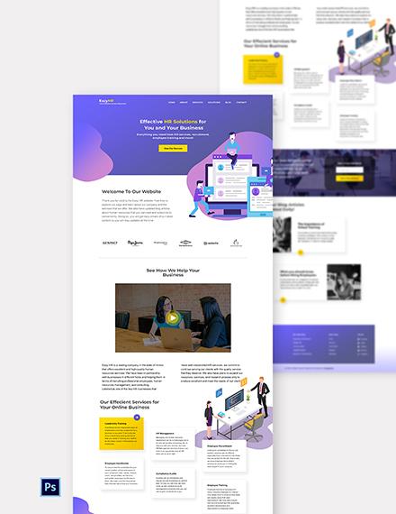 HR Website Template