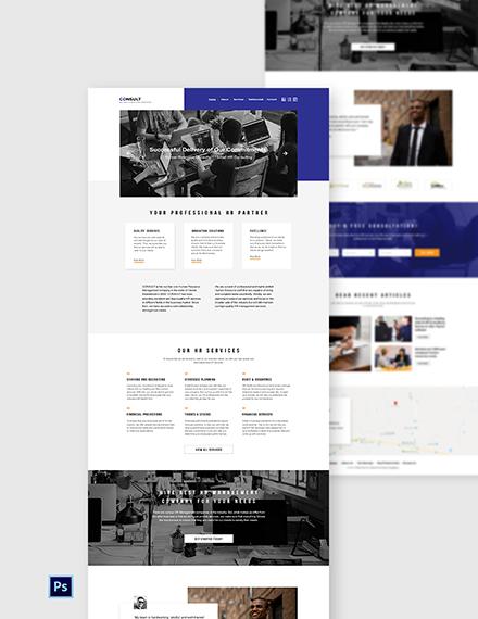 Human Resource Management Website Template