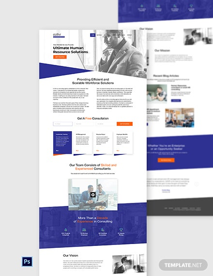 Recruiting Agency Website Template