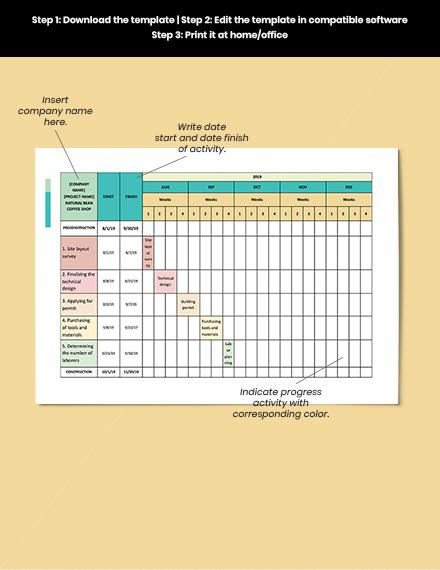 TwoWeek Construction Schedule Format