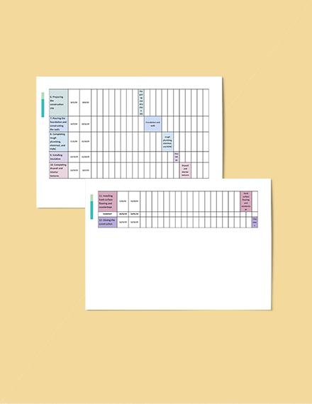 TwoWeek Construction Schedule Template