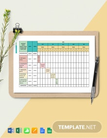 Two-Week Construction Schedule Template