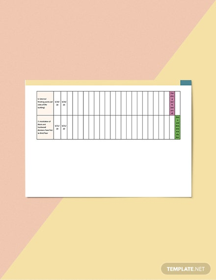 ThreeWeek Construction Schedule Template