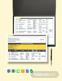 Construction Submittal Schedule Template